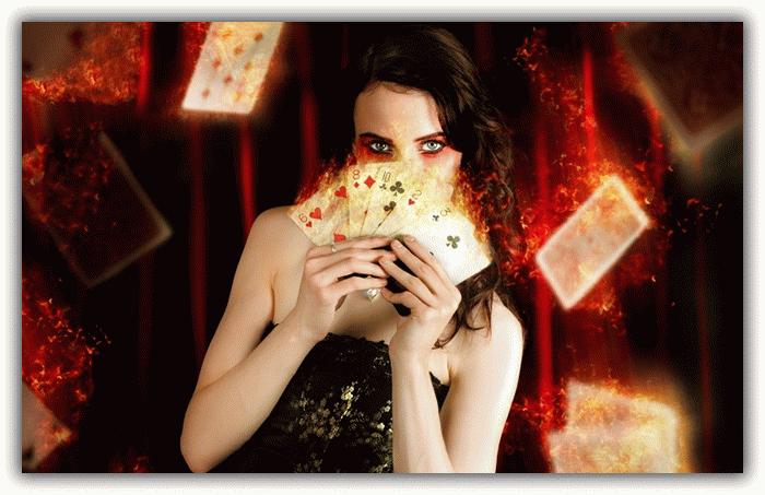 дама с картами