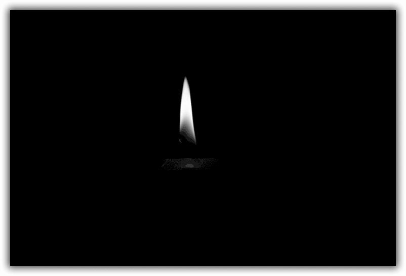 черный отворот на свечу без фото для вас эскиз