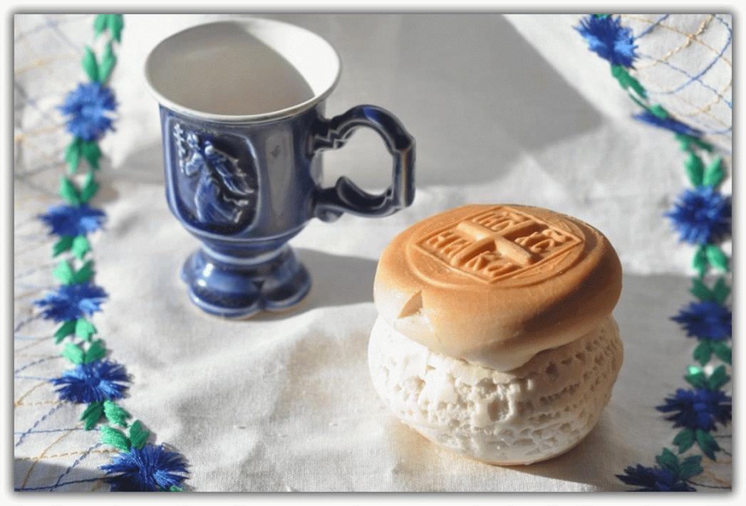 Молитва на принятие просфоры и святой воды