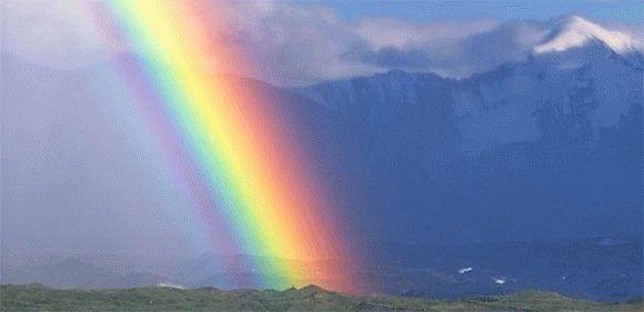 К чему снится цветная радуга на небе?