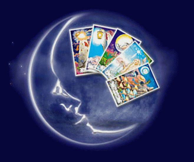 связь Луны с карточными гаданиями