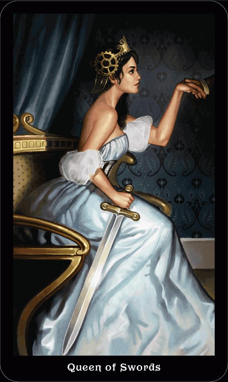 Королева Мечей викторианское таро