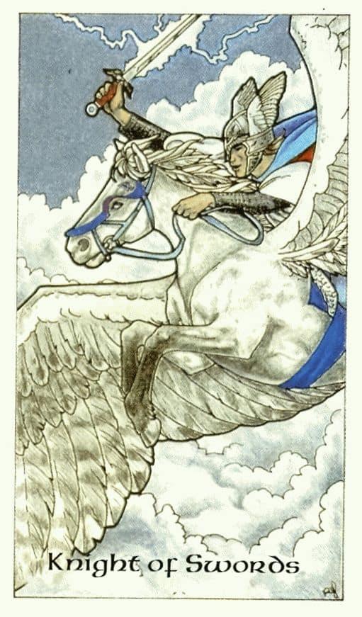 Карта Рыцаря Мечей в раскладах Таро