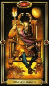 король Жезлов таро ведьм