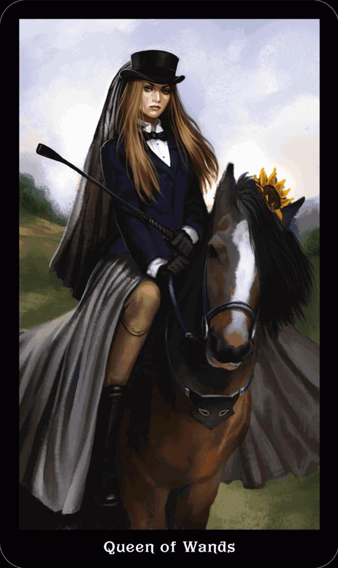 Дама Посохов Викторианское Таро