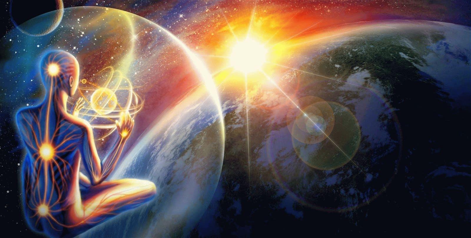 мантра связывает человека с Божественным миром