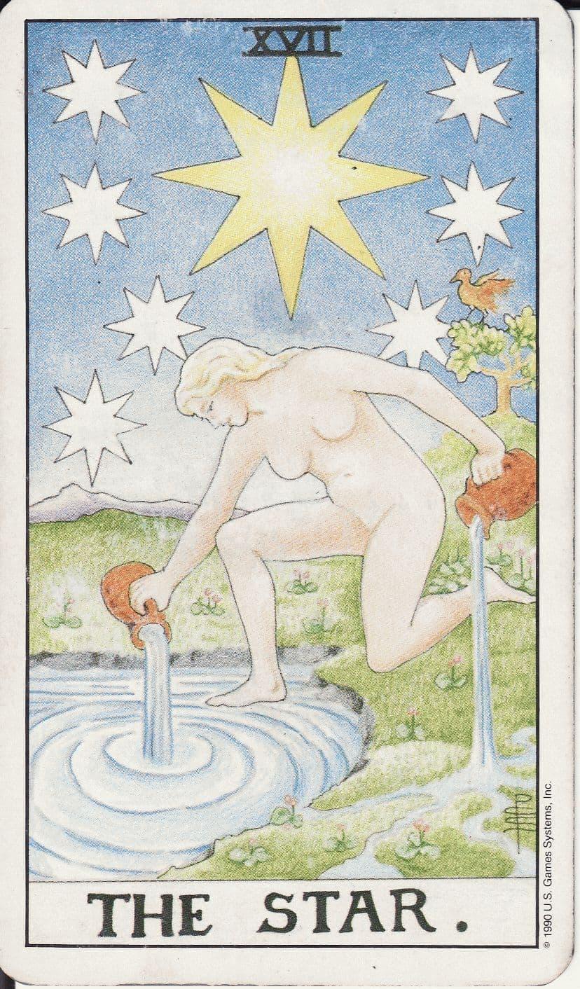 Значение XVII Старшего Аркана таро Звезда
