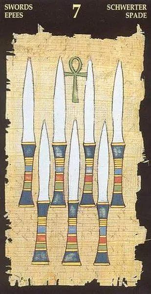 7 Мечей Египтеское таро