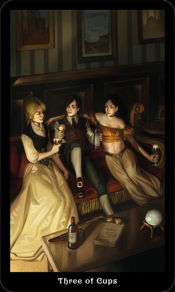 3 Кубков Викторианское Таро