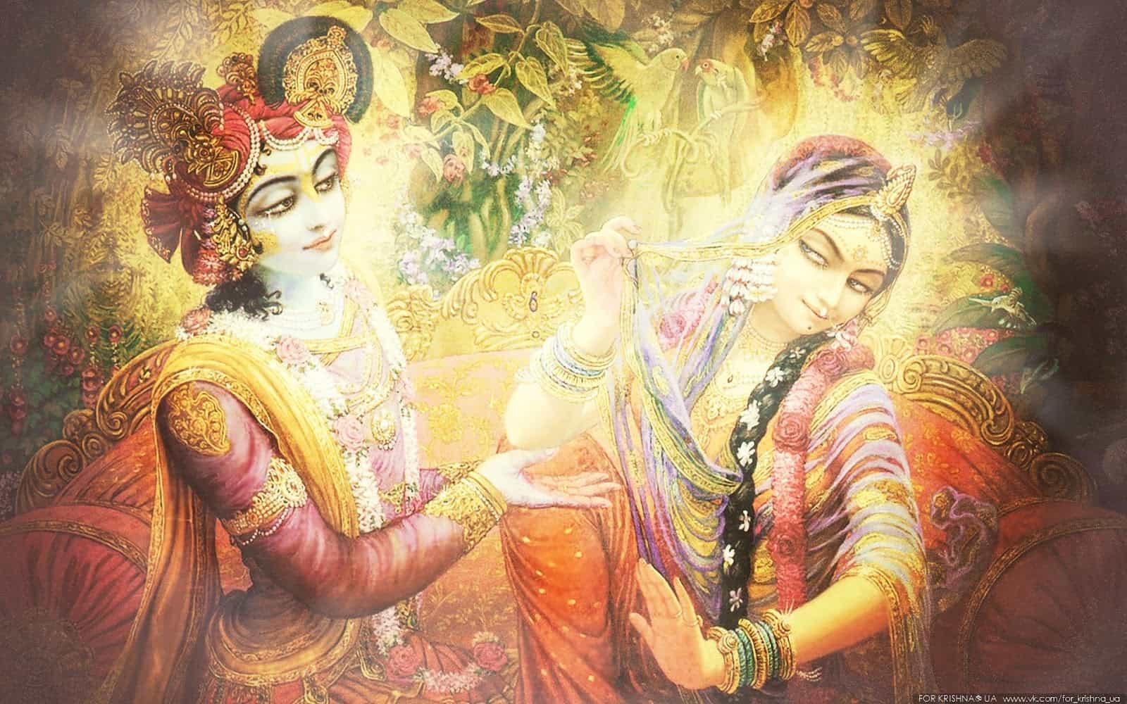 Кришну и его возлюбленная Радха