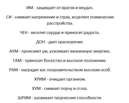 МАНТРЫ