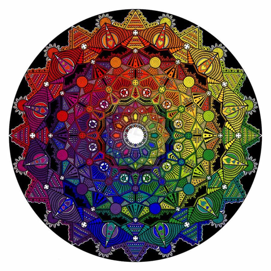 мандала цвета