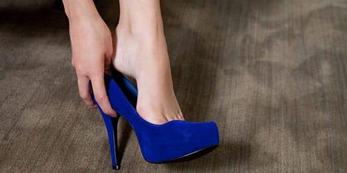 Синий каблук