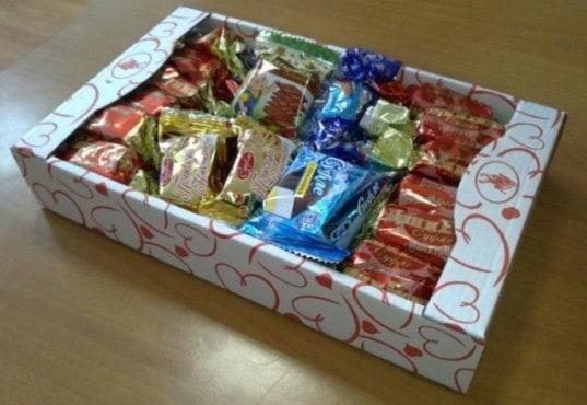 Конфеты в упаковке