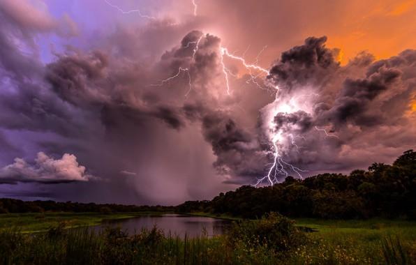 Тучи и молния