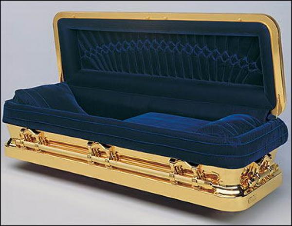 Гроб синий внутри