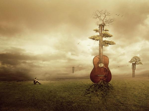 Гитара в степи