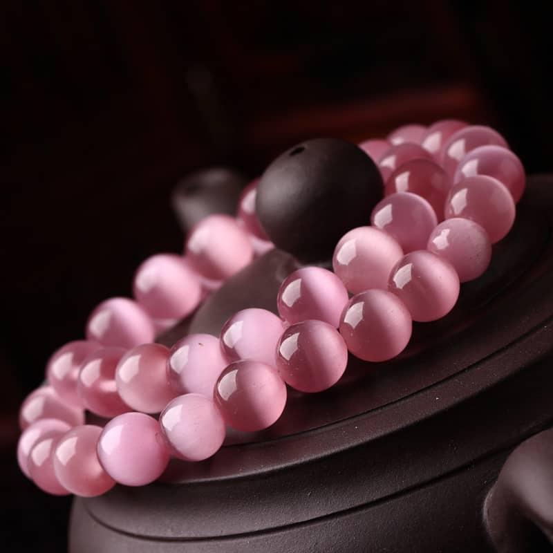 браслет с розовыми камнями