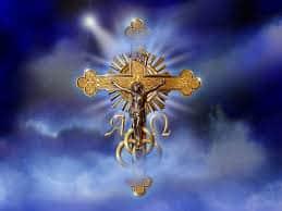 Крест в синих облаках