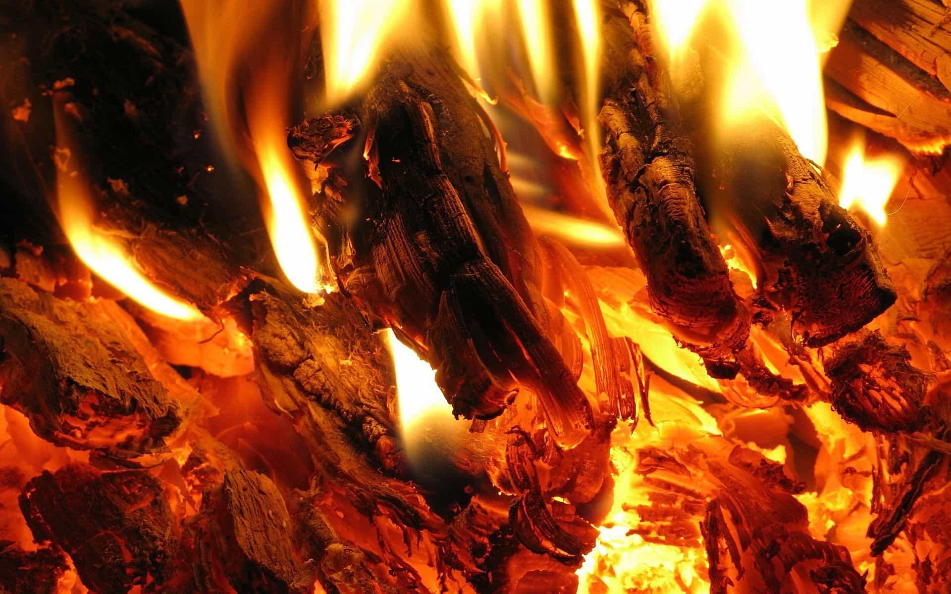 Яркий огонь