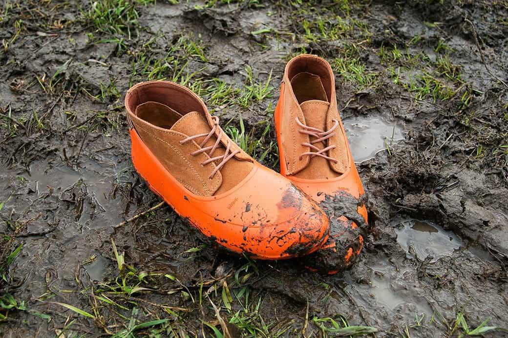 Оранжевая обувь