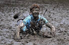 Упал лицом в грязь