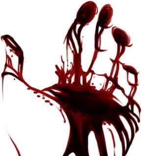 Ладонь из крови