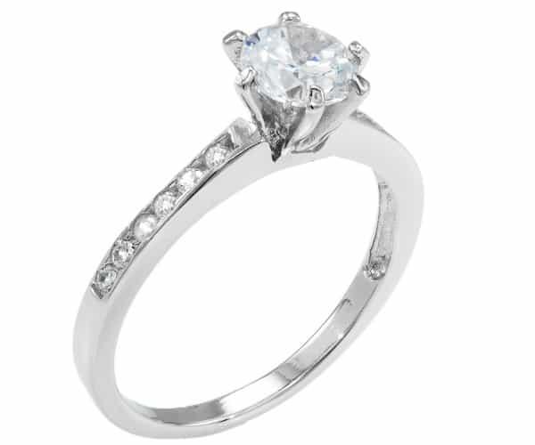 Тонкое серебренное кольцо