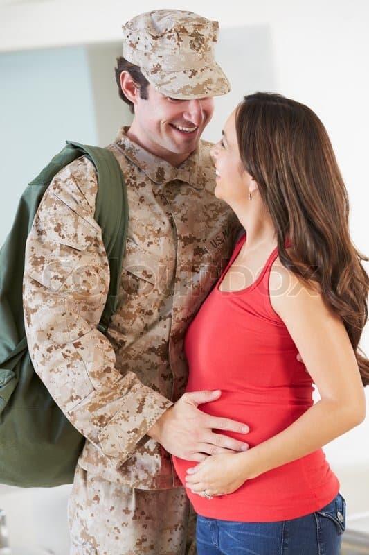 Военный с женой