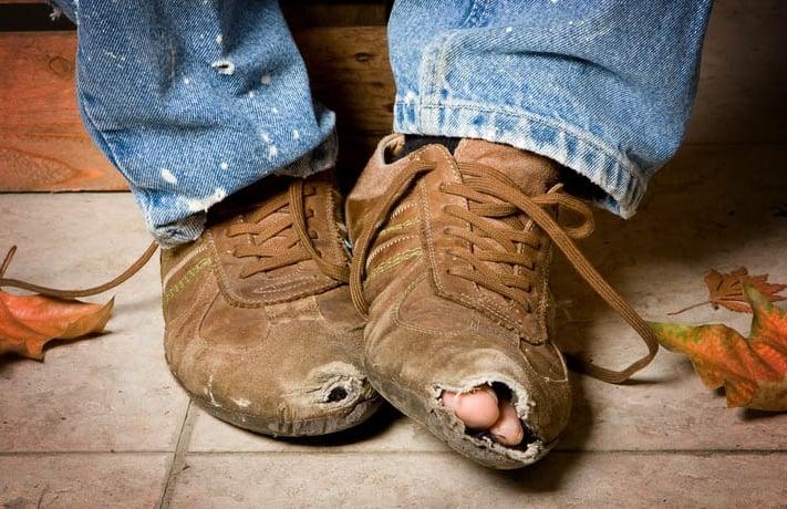 Порвалась обувь