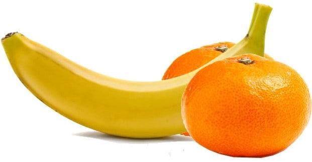 Банан и апельсины