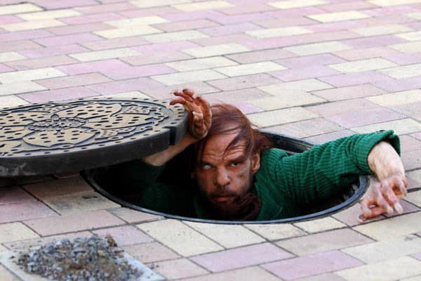 Из канализации