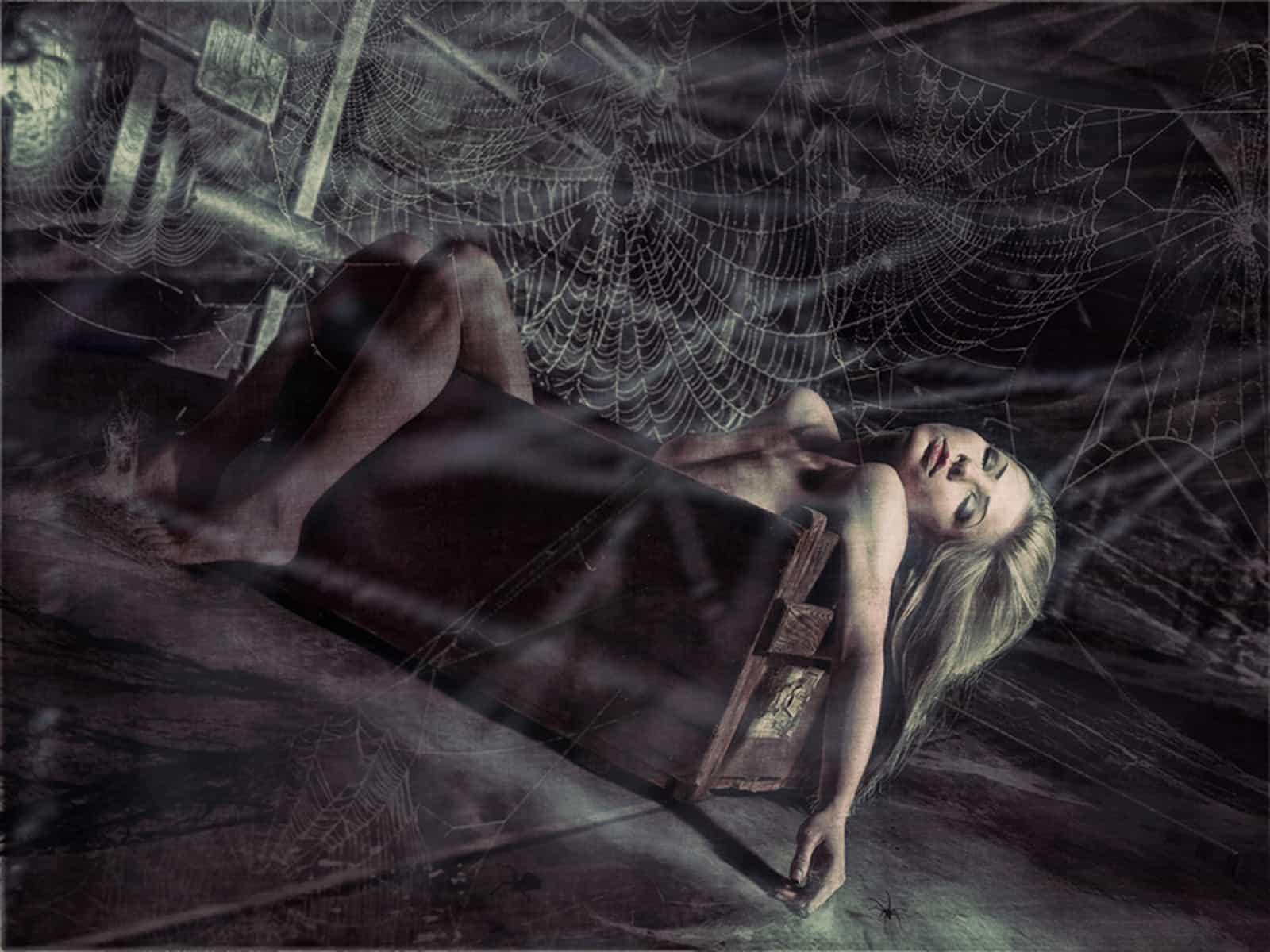 Девушка и паутина