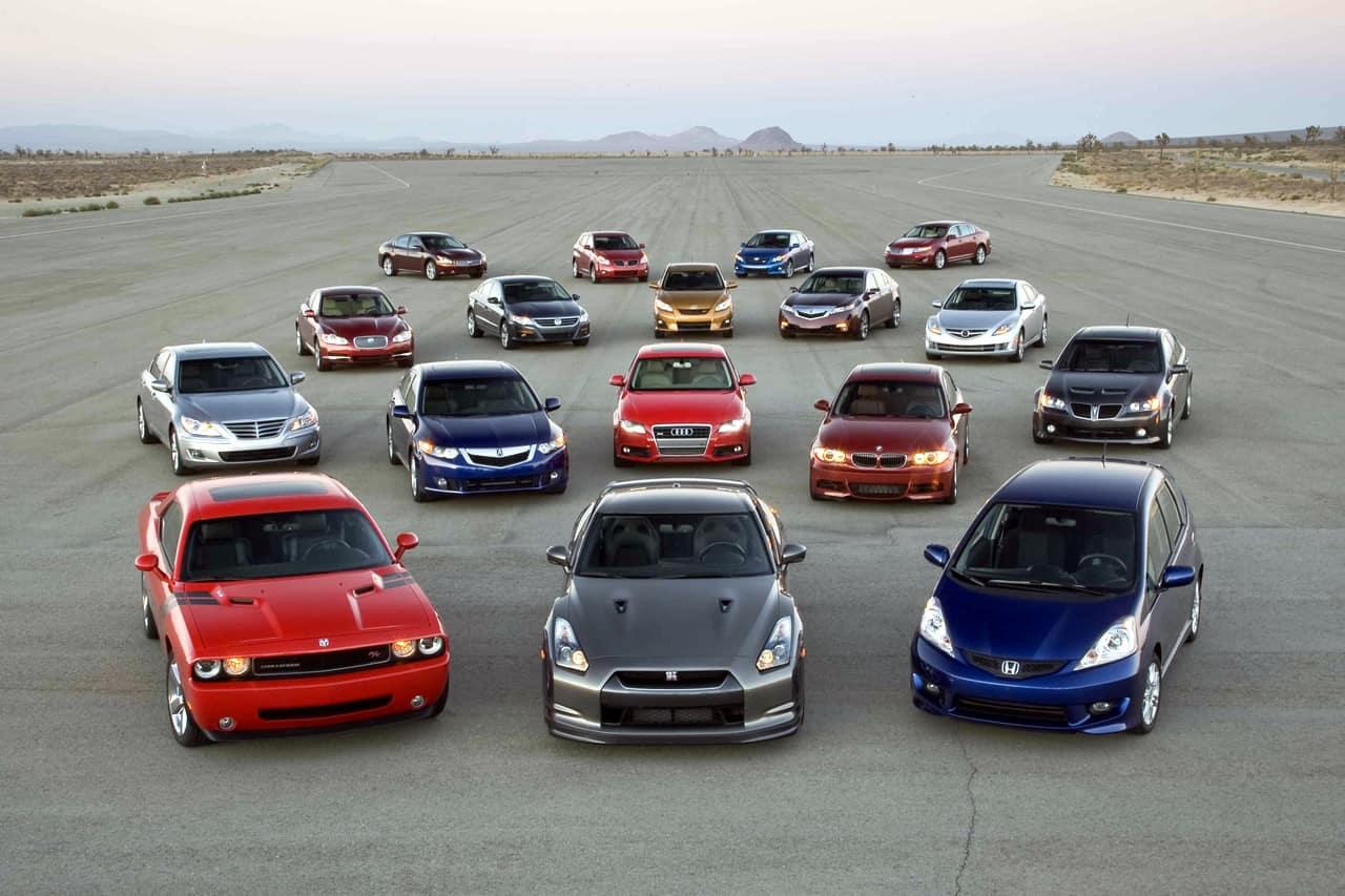 Множество машин
