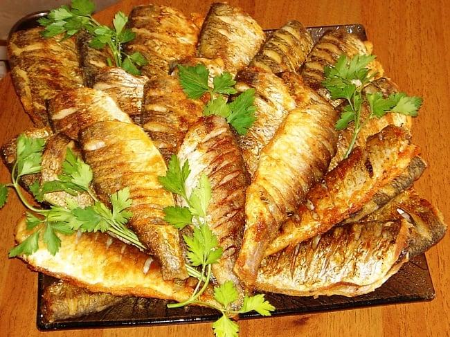 Рыба с петрушкой