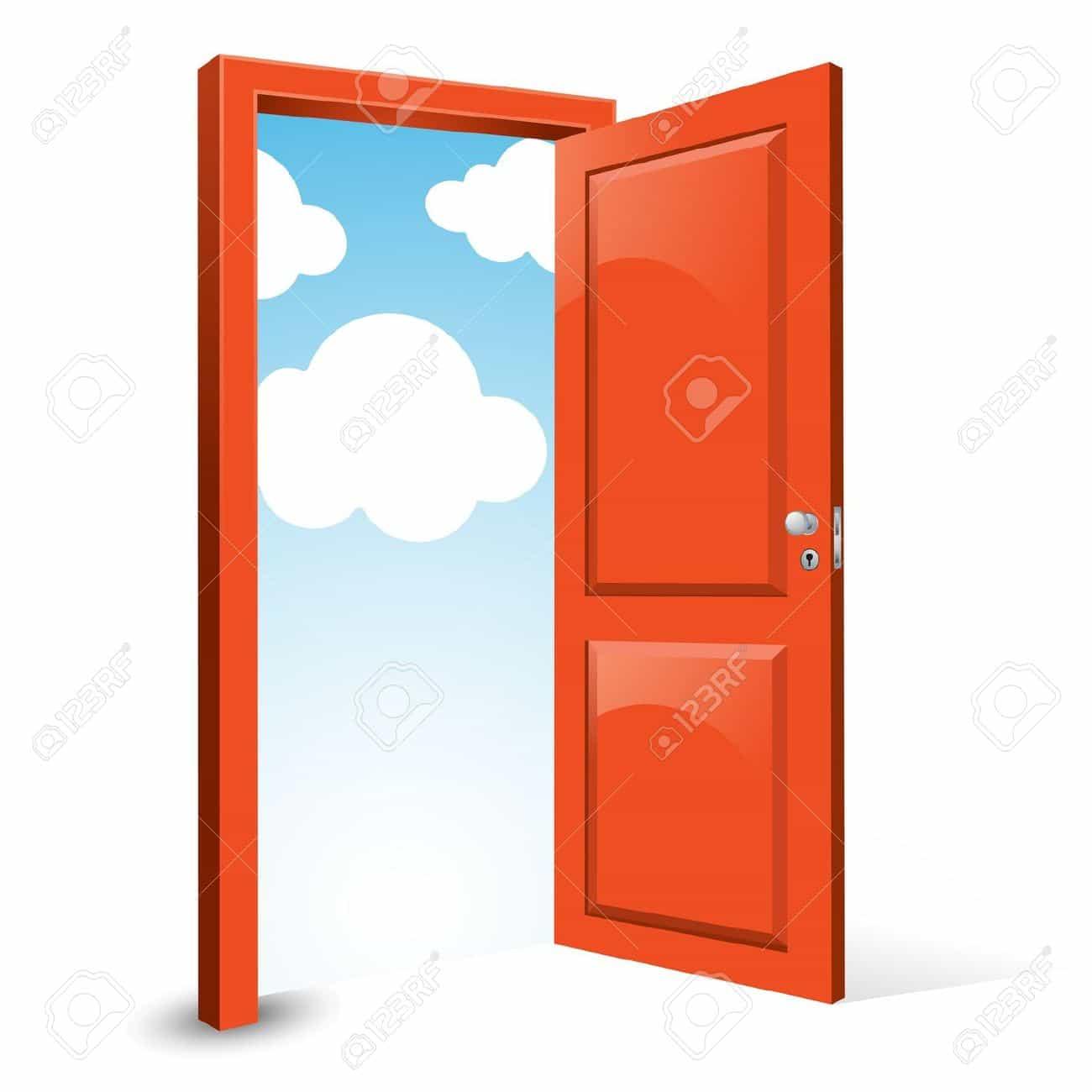 Двери с облаками
