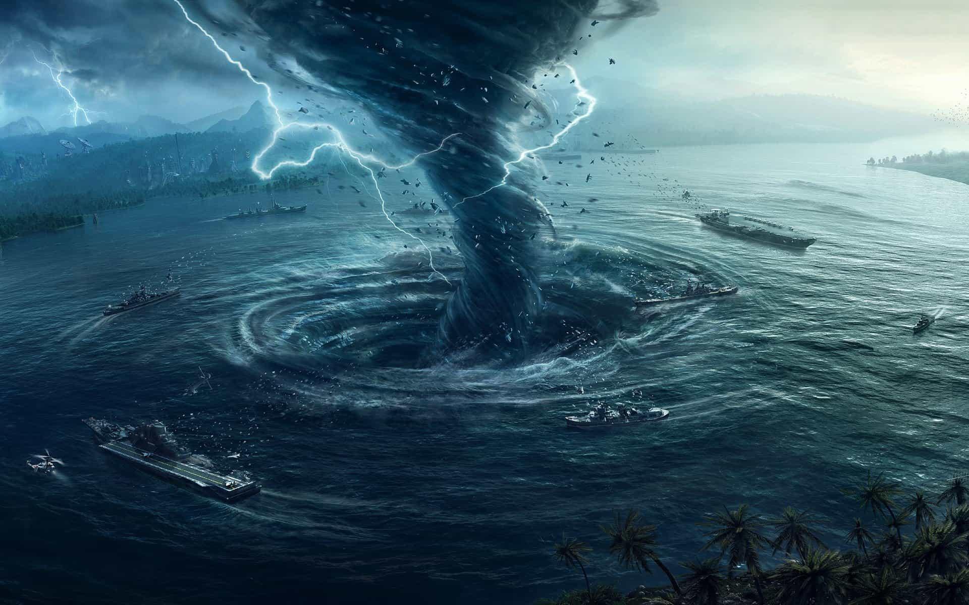 Торнадо в воде