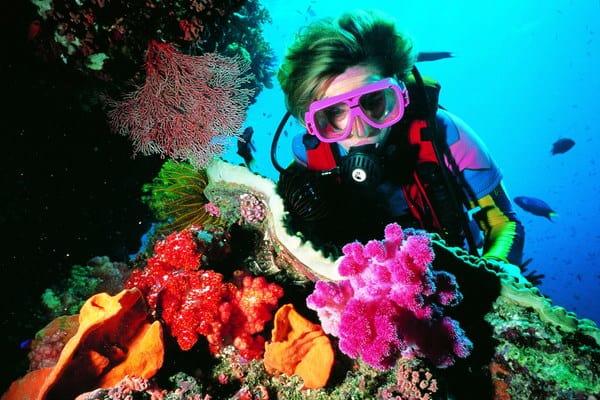 В акваланге