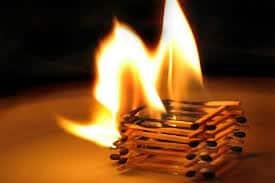 Возгорание спичек