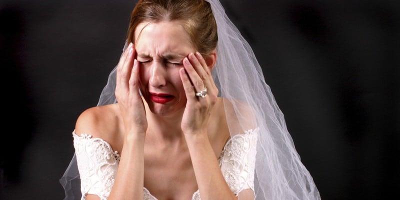 Расстроенная невеста