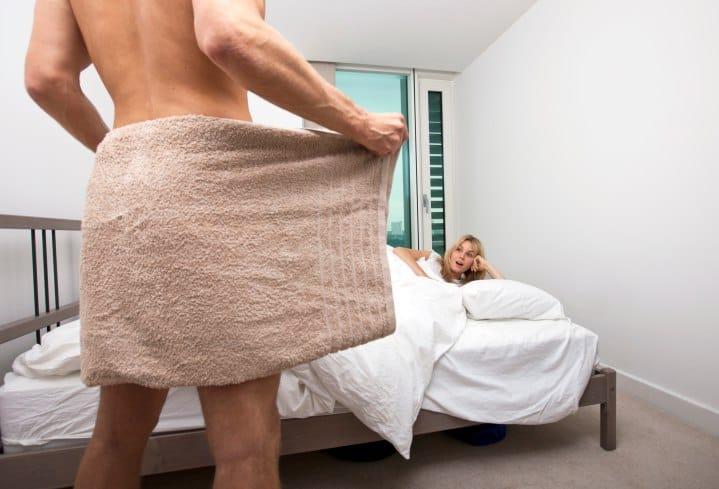 Снял полотенце
