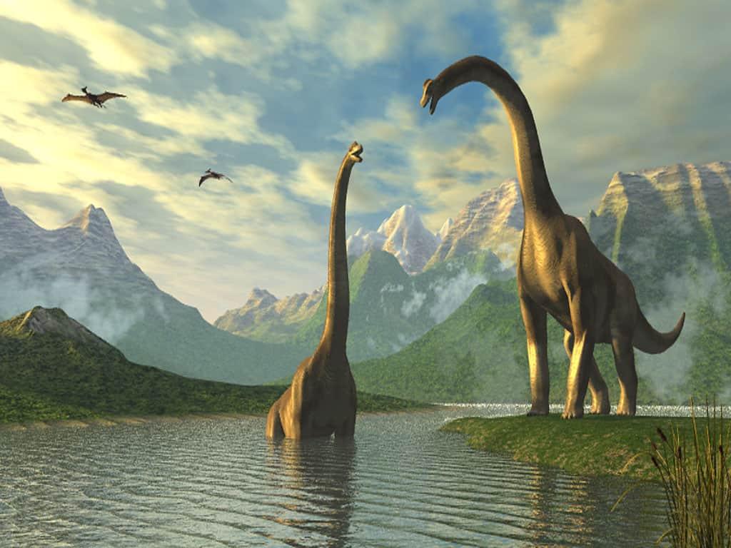 Динозавры в реке