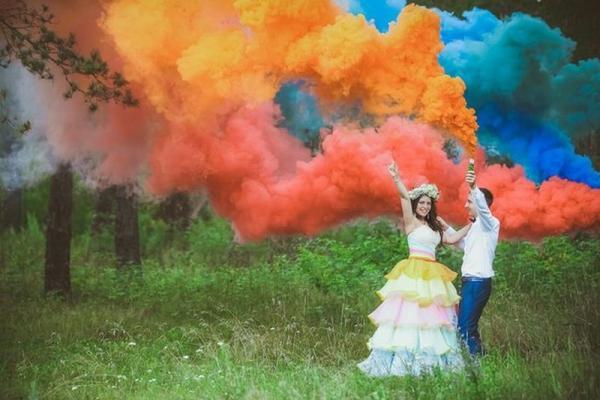 Яркие цвета