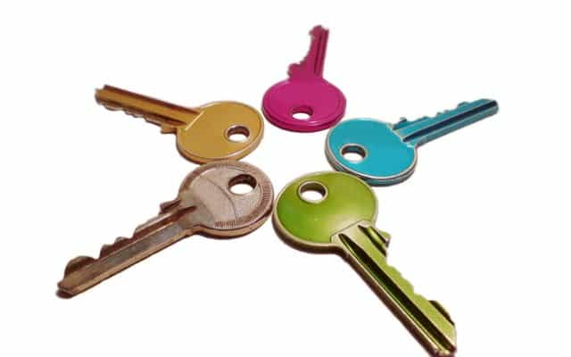 Разноцветные ключи