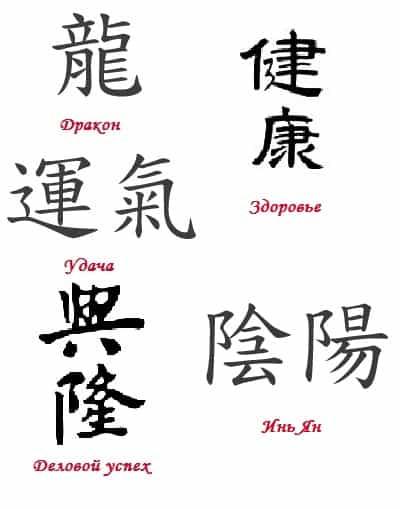 Символы фэн-шуй: талисманы и их значение, китайские иероглифы