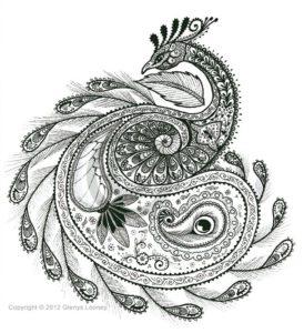 изображение птицы в мандале фото