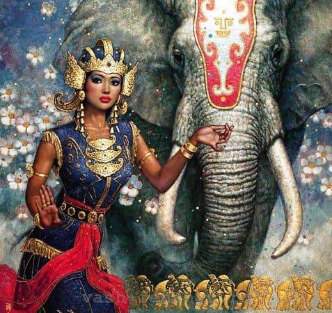 слон - удачный символ в фен шуй