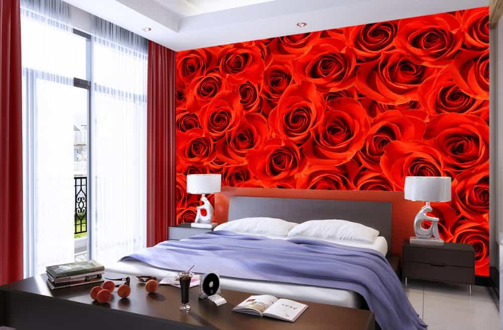 красные цвета - идеальны для молодых пар