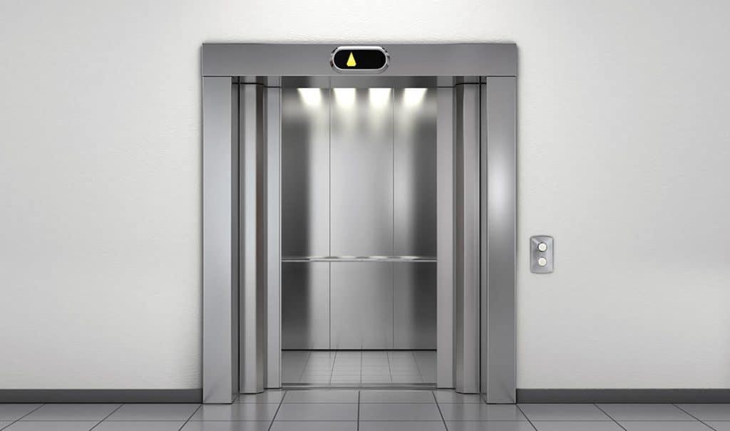 Серый лифт