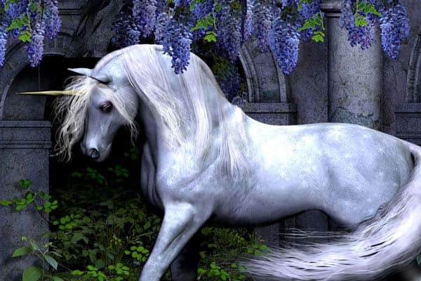 Белый единорог